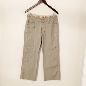 Kuhl cropped embroidered green pants